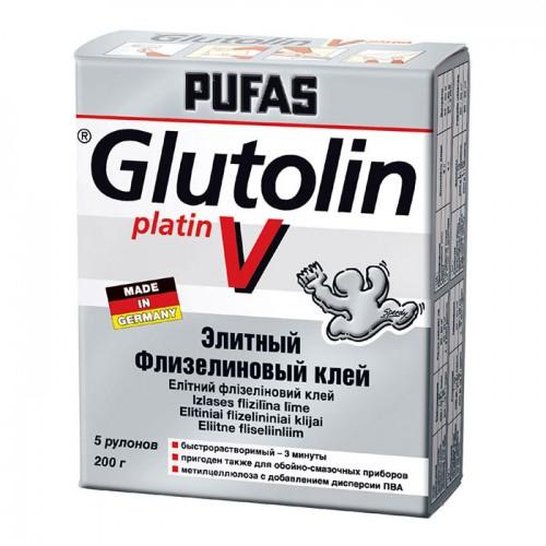 Обойный клей Pufas Glutolin platin V Элитный Флизелиновый