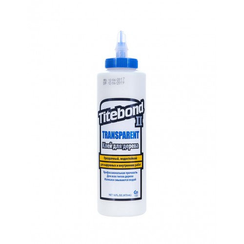 Titebond II Transparent Premium Wood Glue (473 мл)