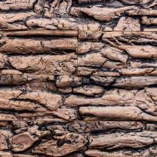 Имитация коры дерева (чёрно-коричневый) (1 м2)