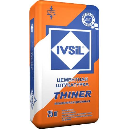 Штукатурка лёгкая цементно-известковая IVSIL THINER