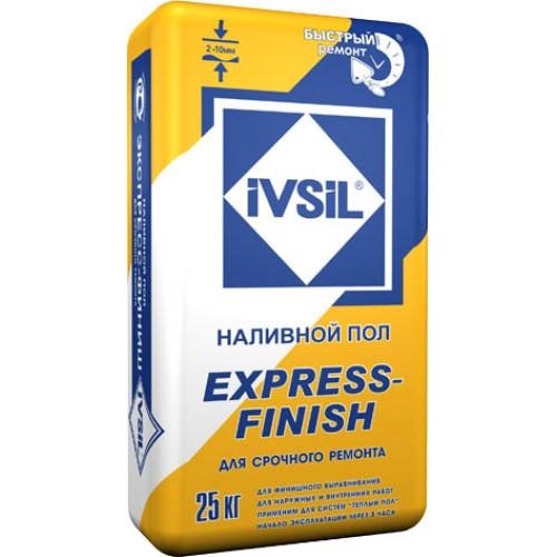 Наливной пол тонкий быстродействующий IVSIL EXPRESS-FINISH