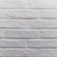 """Гипсовая плитка """"Под Кирпич"""" Карпаты (белая) - 0,44 м2"""