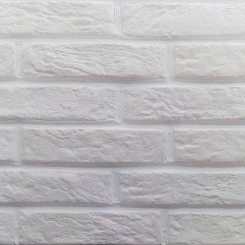 """Гипсовая плитка """"Под Кирпич"""" Карпаты (белая)"""