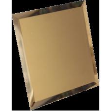 Зеркальная плитка квадратная бронзовая с фацетом матовая 10 мм