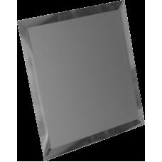 Зеркальная плитка квадратная графитовая с фацетом матовая 10 мм