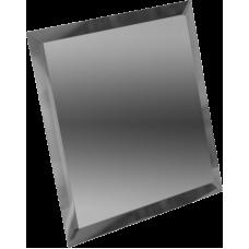 Зеркальная плитка квадратная графитовая с фацетом 10 мм