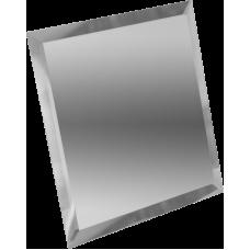 Зеркальная плитка квадратная серебряная с фацетом 10 мм