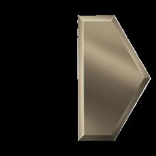 Зеркальная плитка бронзовая Полусота с фацетом 10 мм