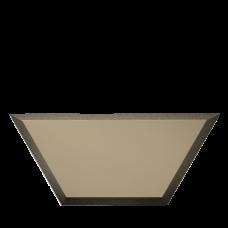 Зеркальная плитка бронзовая Полусота с фацетом матовая 10 мм (200x86 мм) (шт.)