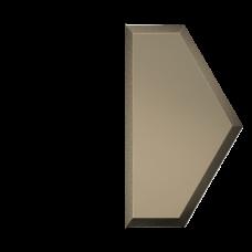 Зеркальная плитка бронзовая Полусота с фацетом матовая 10 мм