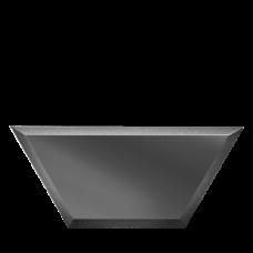Зеркальная плитка графитовая Полусота с фацетом 10 мм (200x86 мм) (шт.)