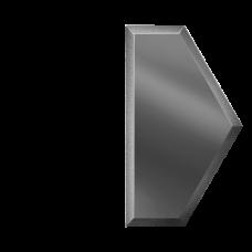 Зеркальная плитка графитовая Полусота с фацетом 10 мм