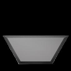 Зеркальная плитка графитовая Полусота с фацетом матовая 10 мм (200x86 мм) (шт.)