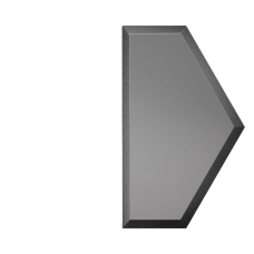 Зеркальная плитка графитовая Полусота с фацетом матовая 10 мм