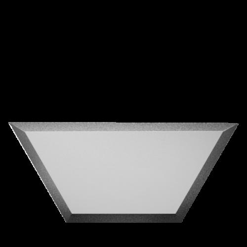 Зеркальная плитка серебряная Полусота с фацетом матовая 10 мм (300x130 мм) (шт.)