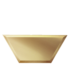 Зеркальная плитка бронзовая Полусота с фацетом 10 мм (200x86 мм) (шт.)