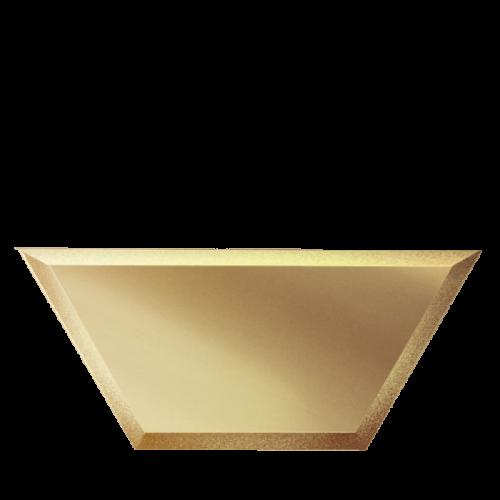 Зеркальная плитка бронзовая Полусота с фацетом 10 мм (250x108 мм) (шт.)