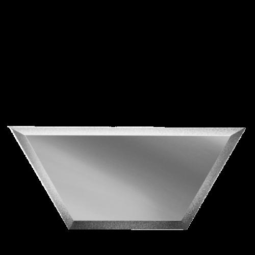 Зеркальная плитка серебряная Полусота с фацетом 10 мм (250x108 мм) (шт.)