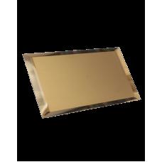 Зеркальная плитка прямоугольная бронзовая с фацетом матовая 10 мм