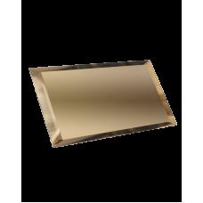 Зеркальная плитка прямоугольная бронзовая с фацетом 10 мм (240x120 мм) (шт.)