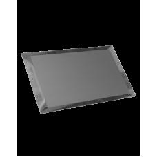 Зеркальная плитка прямоугольная графитовая с фацетом матовая 10 мм