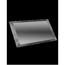 Зеркальная плитка прямоугольная графитовая с фацетом 10 мм