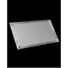 Зеркальная плитка прямоугольная серебряная с фацетом матовая 10 мм