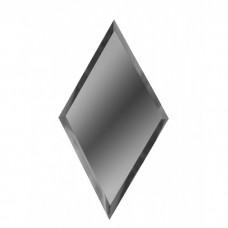 Зеркальная плитка графитовая Ромб 10 мм