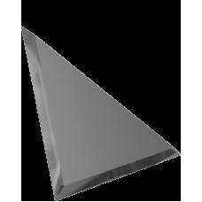 Зеркальная плитка треугольная графитовая с фацетом матовая 10 мм (150x150 мм) (шт.)