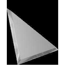 Зеркальная плитка треугольная серебряная с фацетом матовая 10 мм
