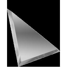 Зеркальная плитка треугольная серебряная с фацетом 10 мм