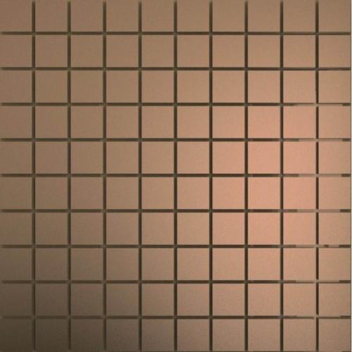 Зеркальная мозаика Бронза с чипом матовая 25x25 мм
