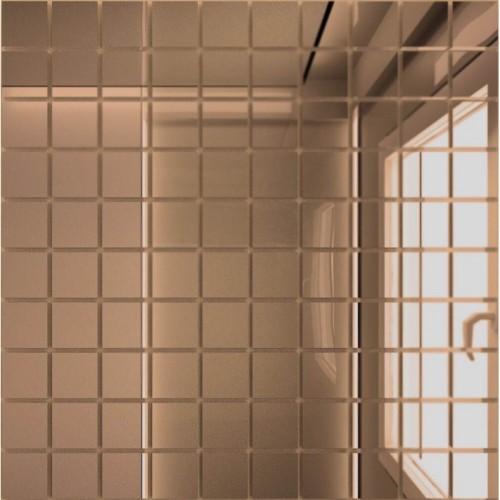 Зеркальная мозаика Бронза с чипом 25x25 мм