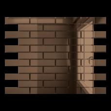 Зеркальная мозаика Бронза с чипом 80x25 мм