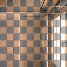 Зеркальная мозаика Бронза  (50%) + Графит (50%) с чипом 25x25 мм