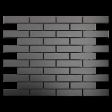 Зеркальная мозаика Графит с чипом матовая 80x25 мм