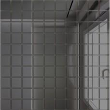 Зеркальная мозаика Графит с чипом 25x25 мм