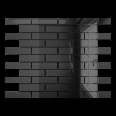 Зеркальная мозаика Графит с чипом 80x25 мм