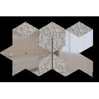 Зеркальная мозаика Ромб Серебро (60%) + Хрусталь (40%)