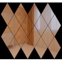 Зеркальная мозаика Ромб вертикальный Бронза