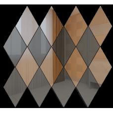Зеркальная мозаика Ромб вертикальный Бронза (50%) + Графит (50%)