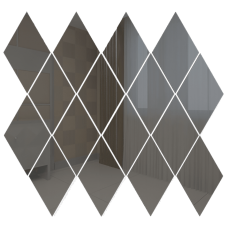 Зеркальная мозаика Ромб вертикальный Графит