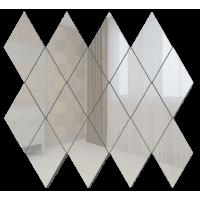 Зеркальная мозаика Ромб вертикальный Серебро